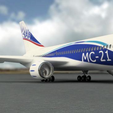 В Иркутске авиаконструкторы представили новый среднемагистральный лайнер МС-21